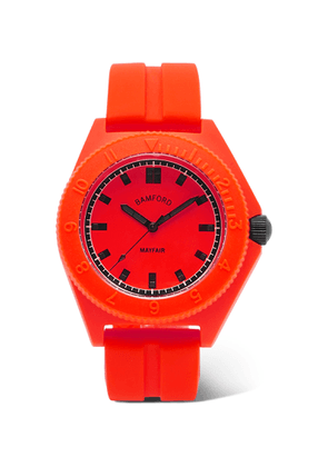Bamford Watch Department - Mayfair Sport Polymer and Rubber Watch - Men - Red