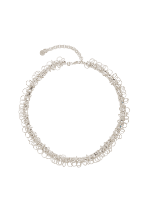 Moutton Collet X Project Gold-Plated, Silver and Crystal Necklace