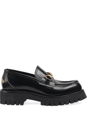 Gucci Leather lug sole loafers - Black