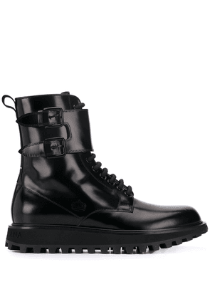 Dolce & Gabbana buckled high-top boots - Black
