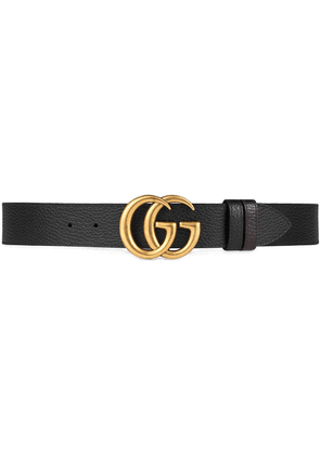 Gucci Reversible leather belt with Double G buckle - Black