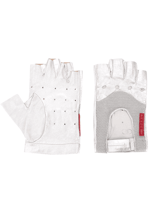 Prada fingerless gloves - SILVER