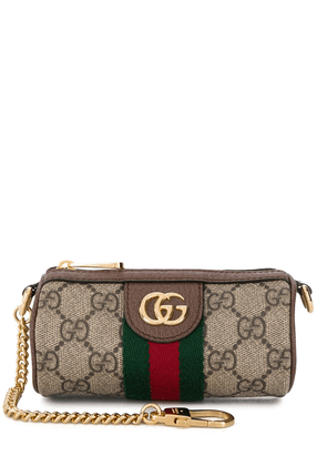 Gucci GG Supreme pouch bag - Brown