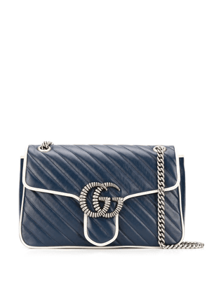 Gucci medium GG Marmont quilted shoulder bag - Blue