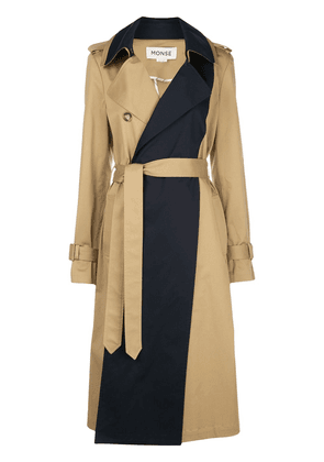 Monse panelled trench coat - NEUTRALS