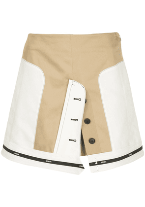 Monse panelled mini skirt - NEUTRALS