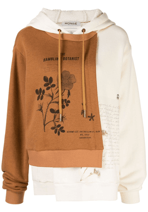 Monse panelled logo print sweatshirt - Brown