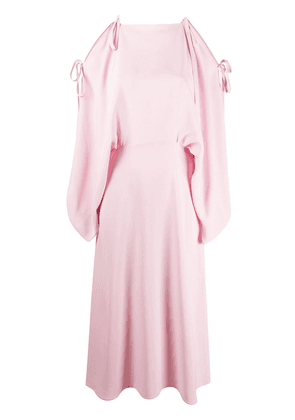 Prada cold shoulder midi dress - PINK
