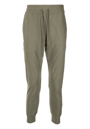 Attachment tapered track pants - Green