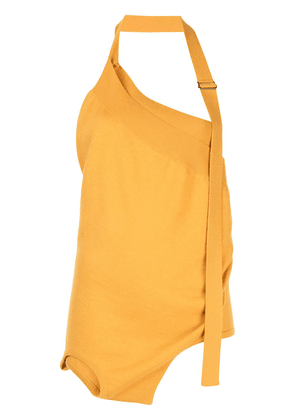 Monse asymmetric halterneck top - Yellow