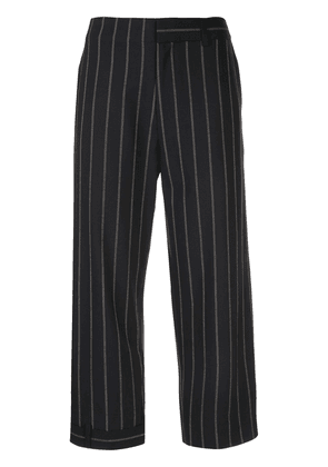 Monse pinstriped cropped trousers - Blue