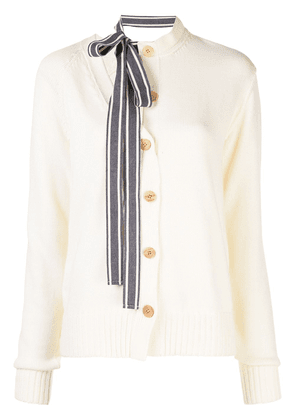 Monse asymmetric cardigan - White