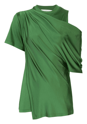 Monse draped cold-shoulder satin blouse - Green