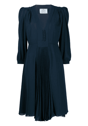 Prada pleated detail dress - Blue