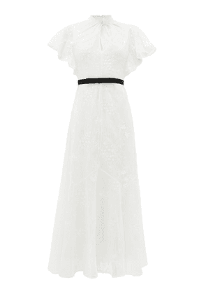 Erdem - Celestina Embroidered-lace Cap-sleeve Gown - Womens - White