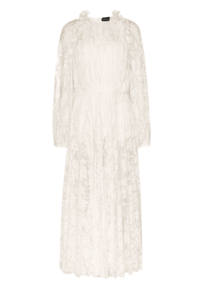 Magda Butrym ruffled lace dress - White