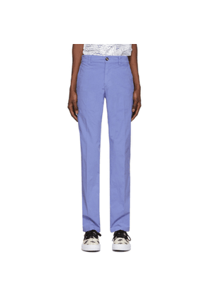 Kenzo Purple Garment Dyed Chino Trousers
