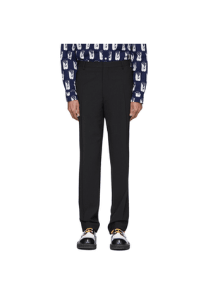 Kenzo Black Wool Formal Slim Trousers