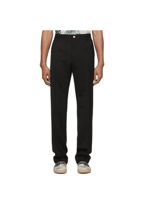 Kenzo Black Wool Urban Slim Trousers