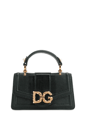 Dg Amore Embossed Leather Phone Bag