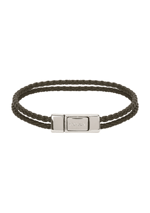 Removable braided leather band