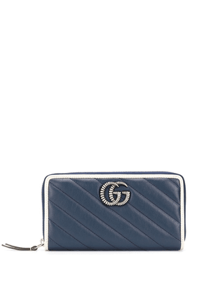 Gucci quilted leather zip-around wallet - Blue