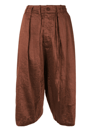 Forme D'expression Sarouel cropped trousers - Brown
