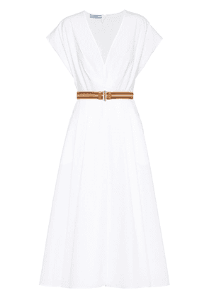 Prada poplin midi dress - White