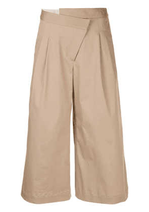 Monse cropped wide leg trousers - Brown
