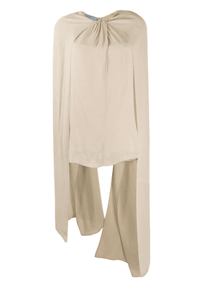 Prada draped long sleeve blouse - NEUTRALS