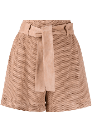 Drome perforated leather shorts - PINK