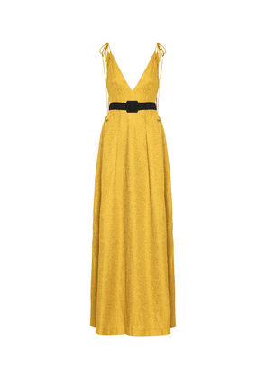 Greta belted gown