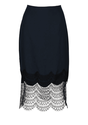 Silk & Lace Midi Skirt