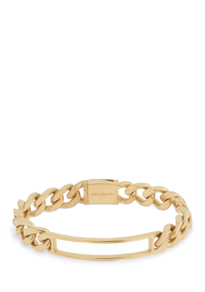 Brushed Gold Pleated Chain Bracelet