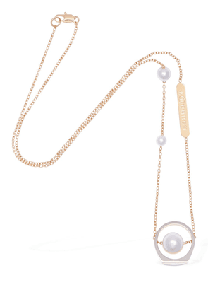 Chain Necklace W/ Imitation Pearls