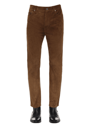 15.5cm Straight Suede Pants