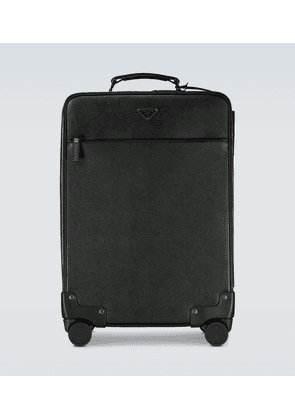 Saffiano leather suitcase