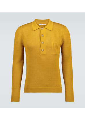 Curtis Crochet knitted polo shirt