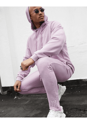 ASOS DESIGN x Dark Future co-ord skinny jogger in purple with embroidered logo