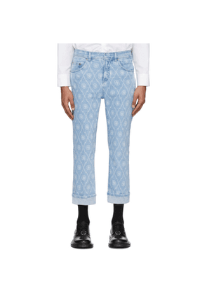 Neil Barrett Blue Monogram Jeans