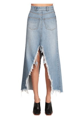 Cotton Denim Long Skirt