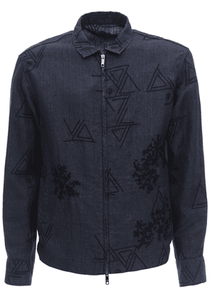 Embroidered Linen Jacket