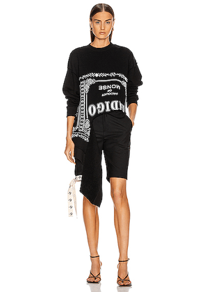 Monse Torn Sweatershirt in Black - Black. Size L (also in XS).