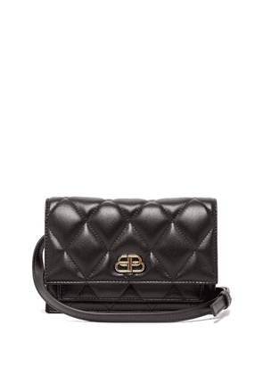 Balenciaga - Sharp Xs Quilted-leather Belt Bag - Womens - Black
