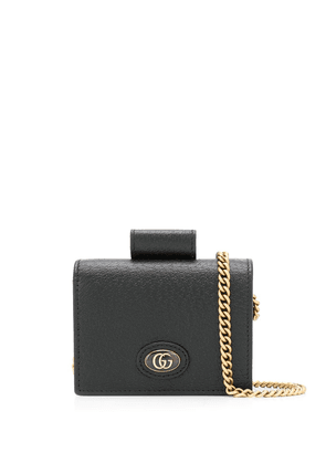 Gucci chain hardcase wallet - Black