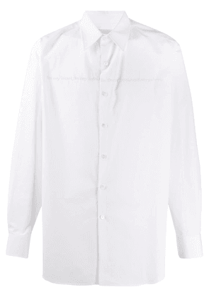 Valentino poetry embroidery buttoned shirt - White