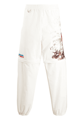 Doublet graphic print track trousers - White