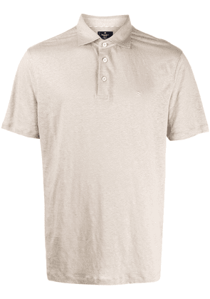 Hackett embroidered logo polo shirt - NEUTRALS