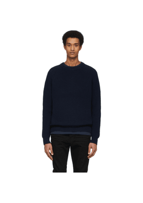 Re/Done Navy Fisherman Sweater