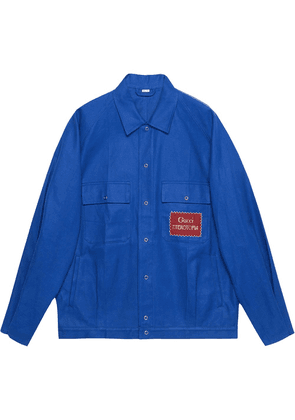 Gucci Gucci Eterotopia-patch oversized jacket - Blue